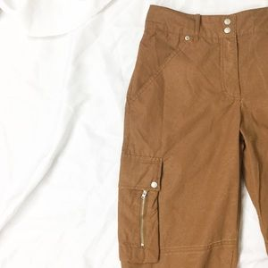 Oilily Brown Cropped Cargo Utility Pants